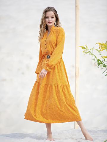 Платье meril, цвет шафрановый