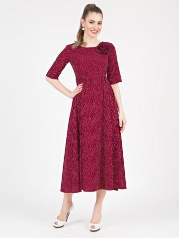Платье dallis, цвет бордовый