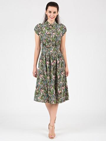 Платье retvy, цвет розово-зеленый
