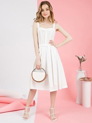 Платье peppy, цвет белый
