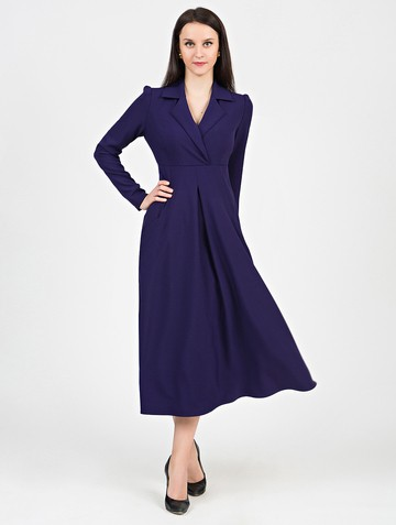 Платье estel, цвет чернильный