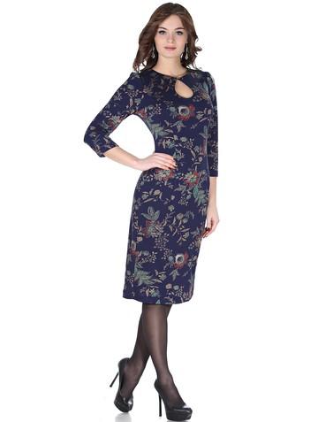 Платье elva, цвет синий с золотом