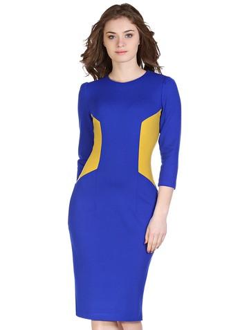 Платье pes, цвет сине-желтый
