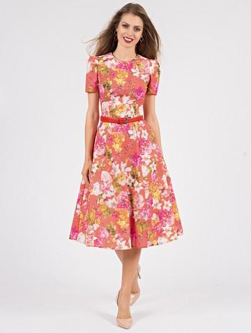 Платье rene, цвет оранжево-желтый