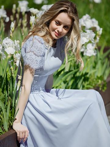 Платье ellina, цвет голубой