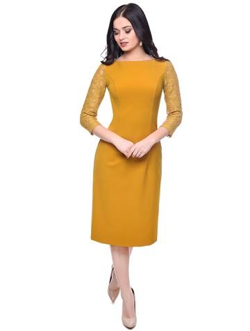 Платье roksana, цвет горчичный