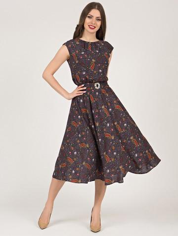 Платье vitalina, цвет темно-лиловый