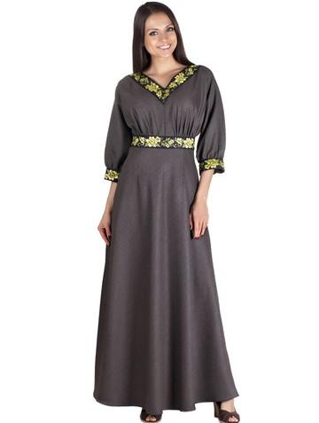 Платье fanno, цвет желто-коричневый