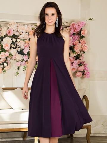 Платье antonella, цвет темно-фиолетовый