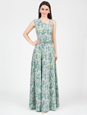 Платье klea, цвет бирюзово-розовый