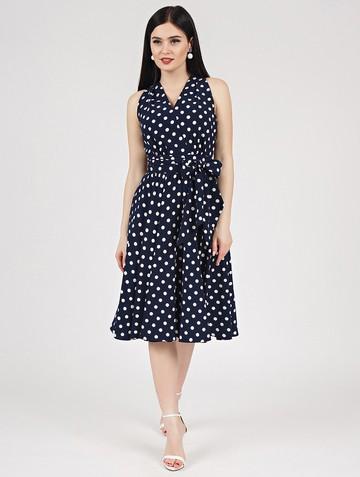 Платье serafima, цвет темно-синий