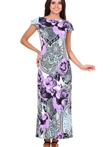 Платье princes, цвет сиреневые цветы