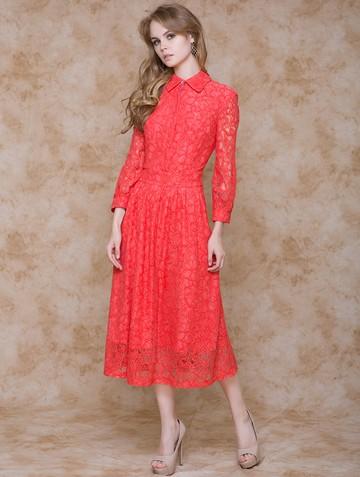 Платье alsy, цвет лососевый