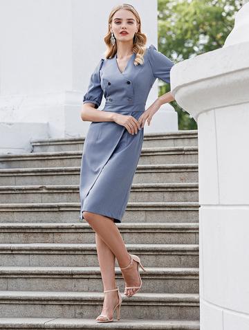 Платье teofania, цвет голубой
