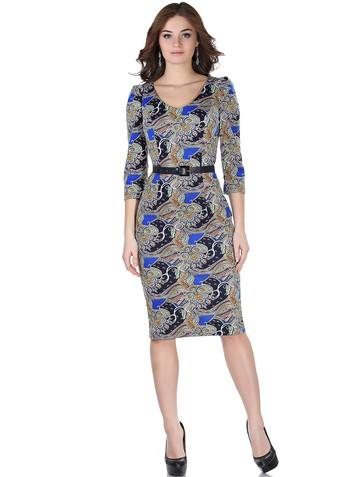 Платье berkano, цвет сине-желтый