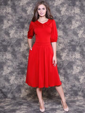 Платье vantra, цвет красный