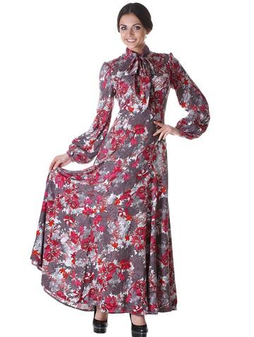 Платье tissa, цвет светло-серый
