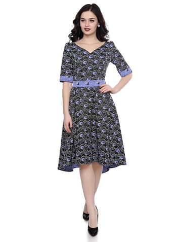 Платье morta, цвет черно-синий