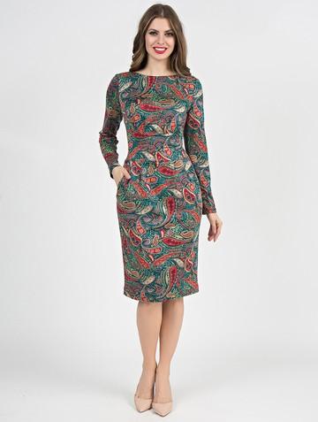 Платье parisa, цвет бирюзово-красный