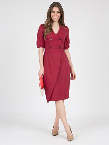 Платье teofania, цвет карминный