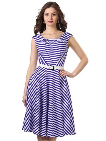 Платье rona, цвет бело-фиолетовый