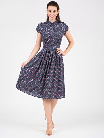 Платье retvy, цвет индиго