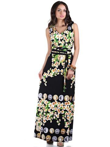 Платье sonya, цвет черно-желтый