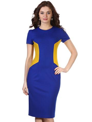 Платье puma, цвет сине-желтый