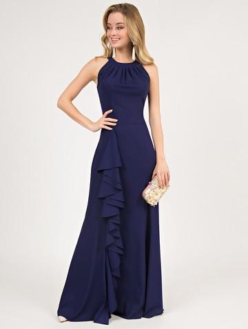 Платье aderly, цвет чернильный
