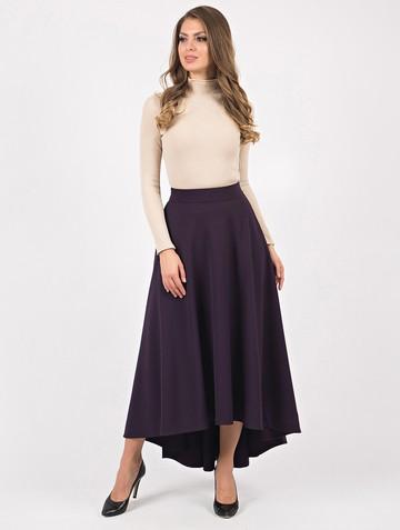 Юбка salva, цвет темно-фиолетовый