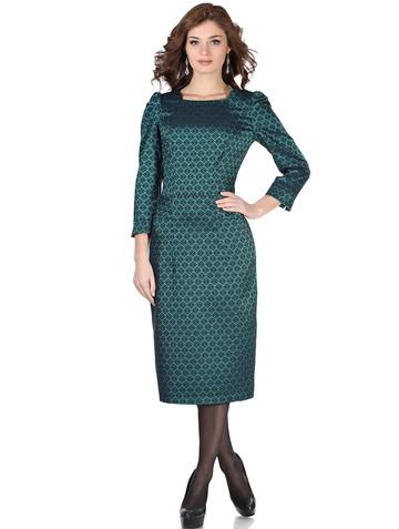 Платье selina, цвет изумрудный