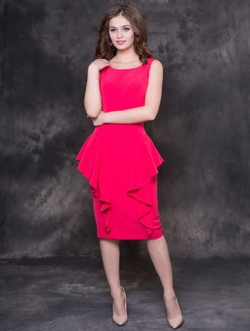 Платье lida, цвет красно-малиновый