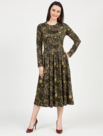 Платье daria, цвет черно-желтый