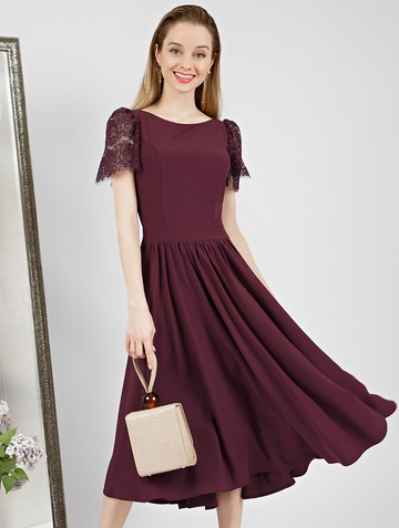 Платье ellina, цвет сливовый