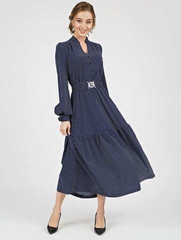 Платье meril, цвет сине-белый