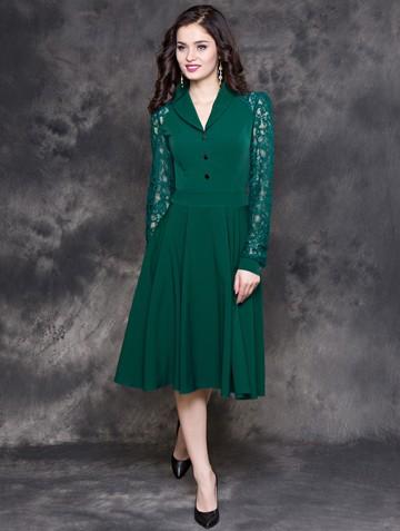 Платье beautty, цвет темно-зеленый