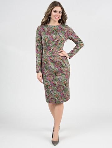 Платье parisa, цвет зелено-розовый