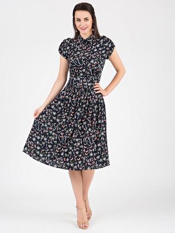 Платье retvy, цвет темно-синий