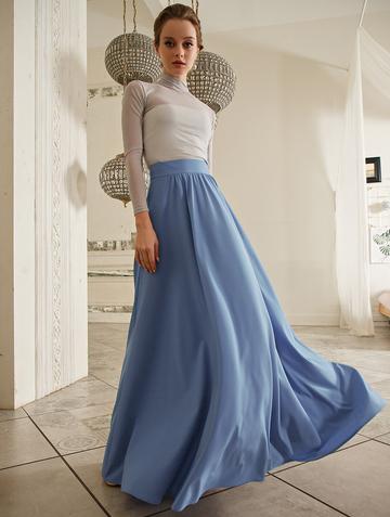 Юбка nila, цвет серо-голубой