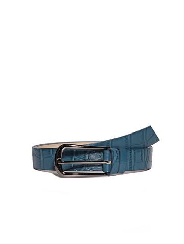 Ремень Rm-004, цвет сине-зеленая репт