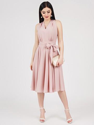 Платье serafima, цвет пудровый