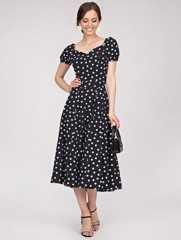Платье gretchen, цвет черно-белый