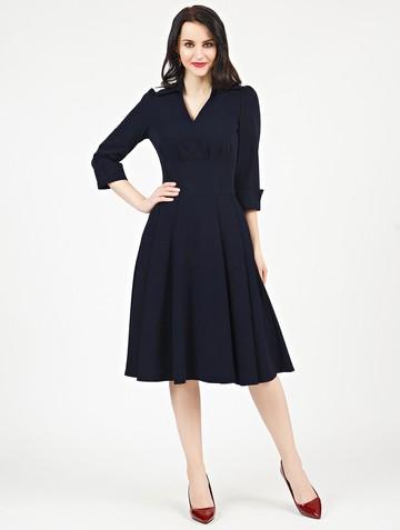 Платье alvina, цвет чернильный