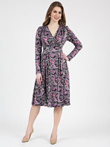 Платье allin, цвет черно-розовый