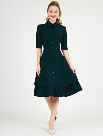 Платье danielle, цвет темно-зеленый