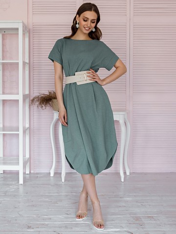 Платье kippy, цвет оливково-серый