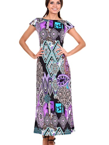 Платье princes, цвет сиреневая абстракция