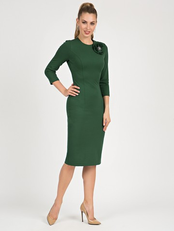 Платье ponty, цвет темно-зеленый