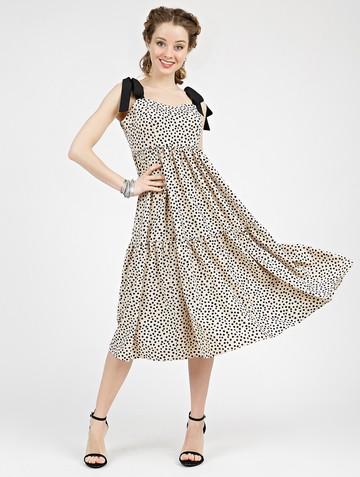 Платье mexy, цвет бежево-черный