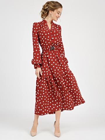 Платье meril, цвет терракотовый
